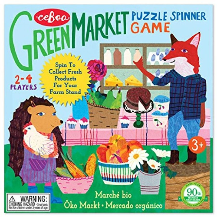 eeBoo 緑 Market Spinner Board Game for Kids 輸入品