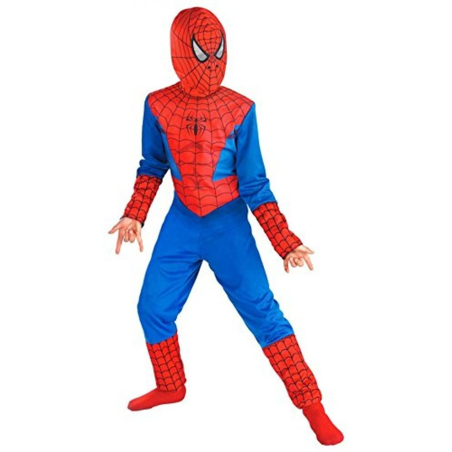 ハロウィン コスプレ 輸入品 Spiderman Birthday Party Cloth Costumes with Mask for Boys, Husky (10 1/2 -12 1/2)