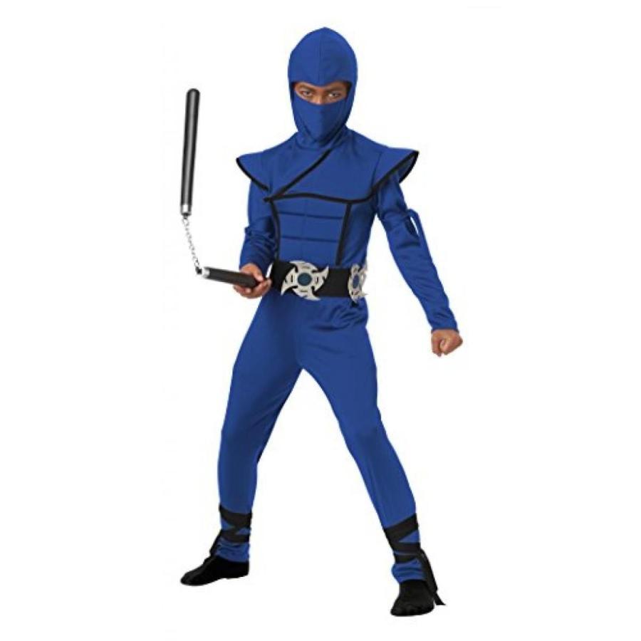 ハロウィン コスプレ 輸入品 California Costumes Stealth Ninja Child Costume (青)