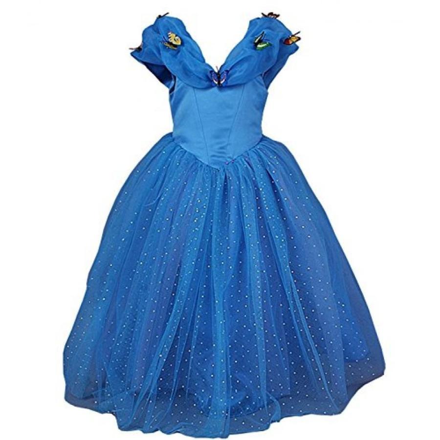 ハロウィン コスプレ 輸入品 JerrisApparel New Cinderella Dress Princess Costume Butterfly Girl