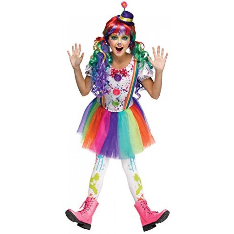 ハロウィン コスプレ 輸入品 Kids Crazy Color Clown Costume - S