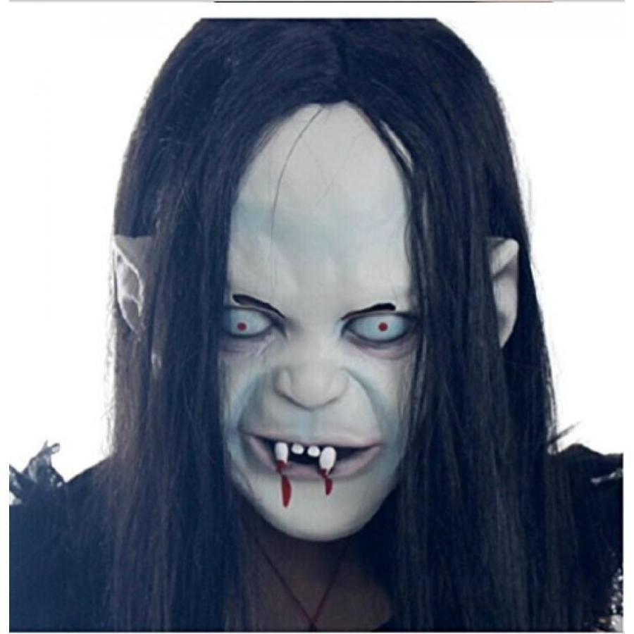 ハロウィン コスプレ 輸入品 Halloween Costume Party Mask Long Hair Ghost Clown Creepy Scary Horror Mask