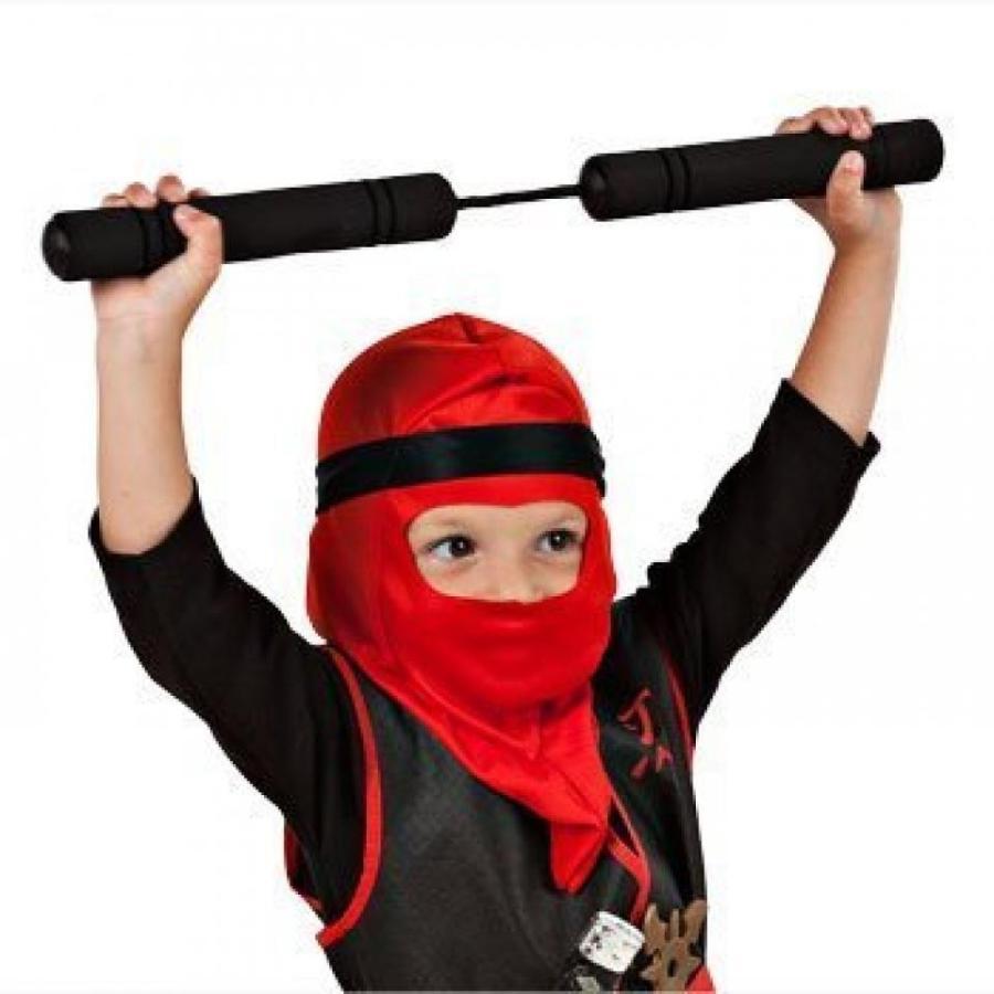 ハロウィン コスプレ 輸入品 Children's Costumes Halloween Masks Pretend Play Ninja Costume with Foam Nunchucks (緑)