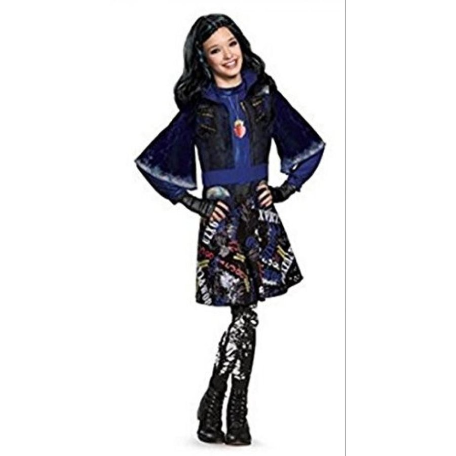 ハロウィン コスプレ 輸入品 Descendants Deluxe Childs Costume Evie With Wig Bundle S/P (4-6X)