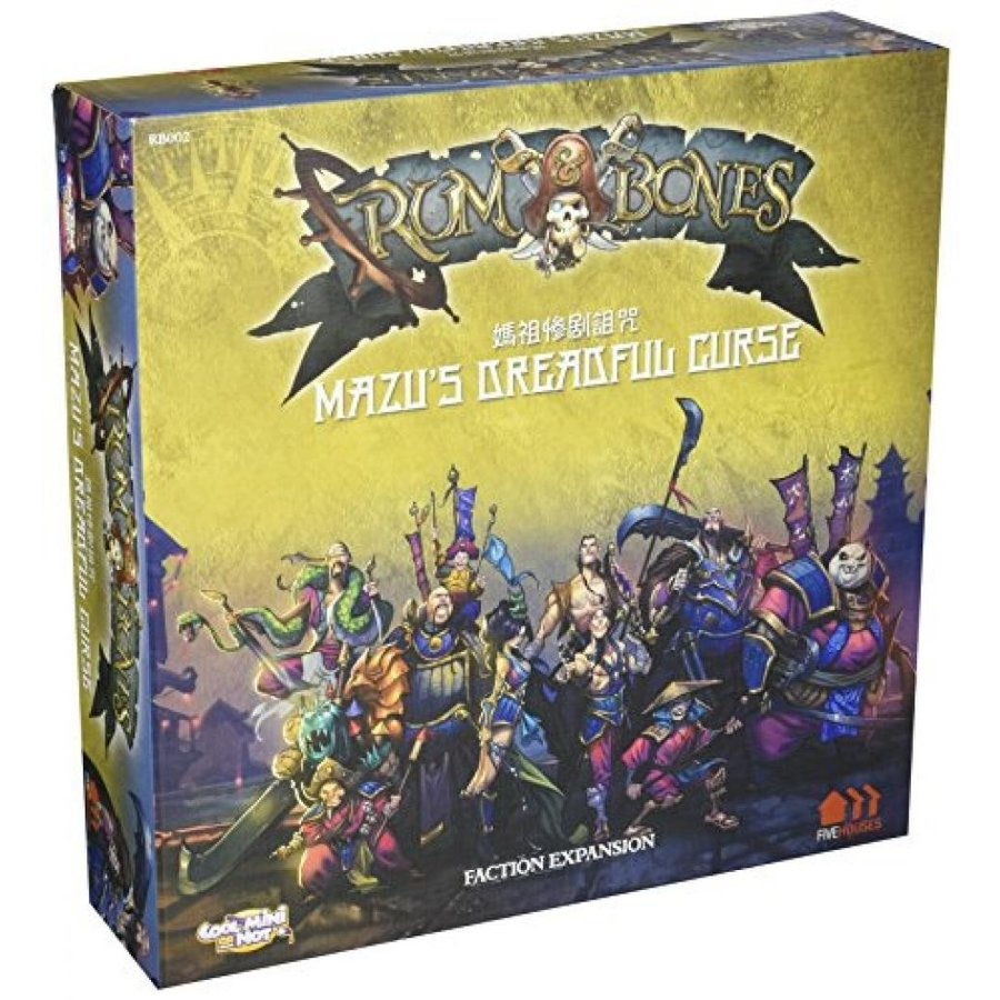 Rum & Bones Mazus Dreadful Curse Board Game 輸入品