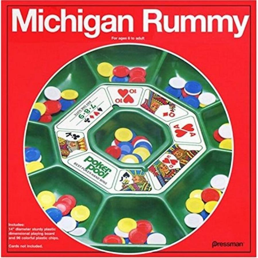 Original Michigan Rummy Board Game Plastic Playing Board 96 Chips Rules New 輸入品