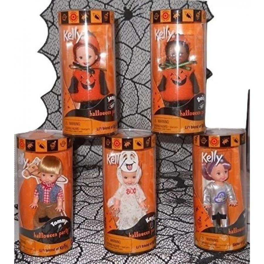 バービー おもちゃ Barbie Li'l Friend of Kelly Halloween Party 2000 Set of 5 dolls