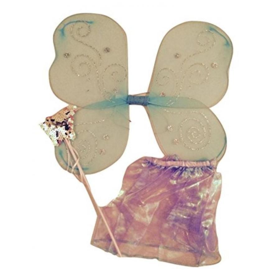 ハロウィン コスプレ 輸入品 Fairy costume Set DIY Toddler Butterfly Dress Up Pretend Play 3 pc Set