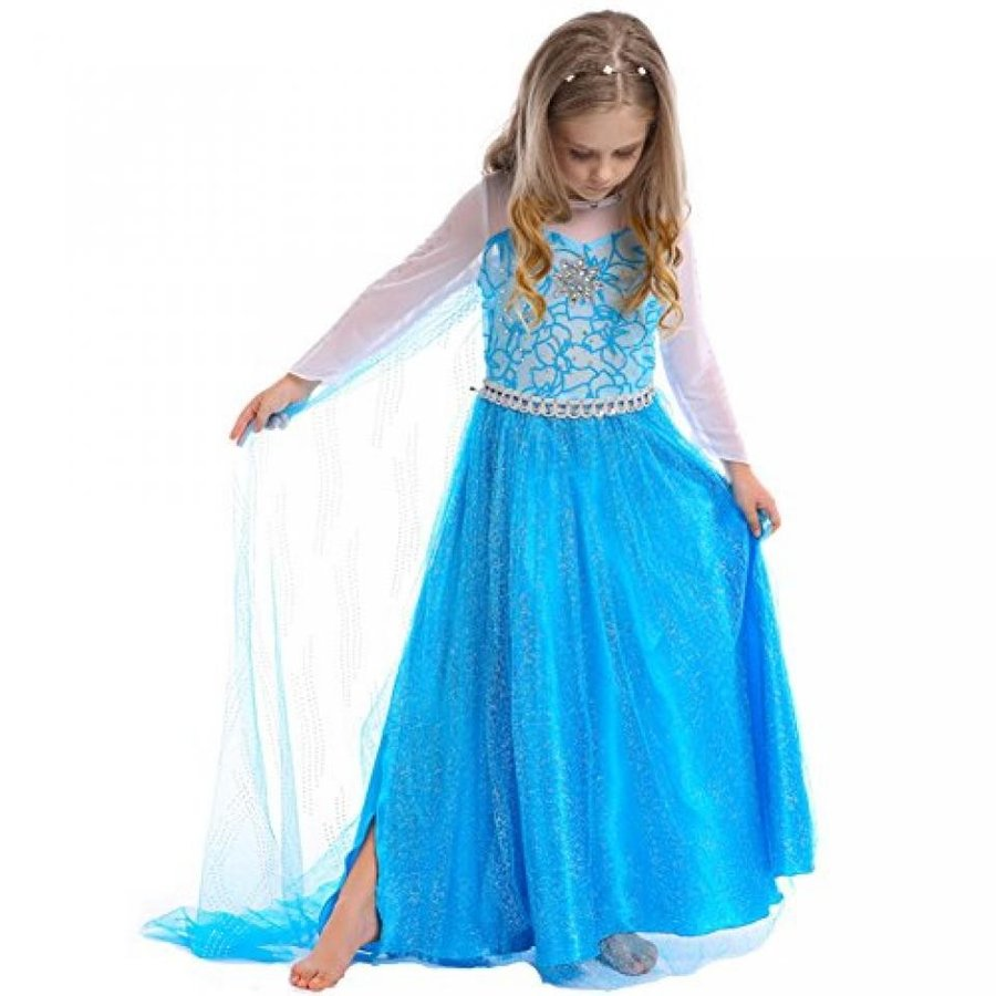 ハロウィン コスプレ 輸入品 Mini Kitty Girls Snow Queen Costume Elsa Coetume Dresses Christmas Dress Up
