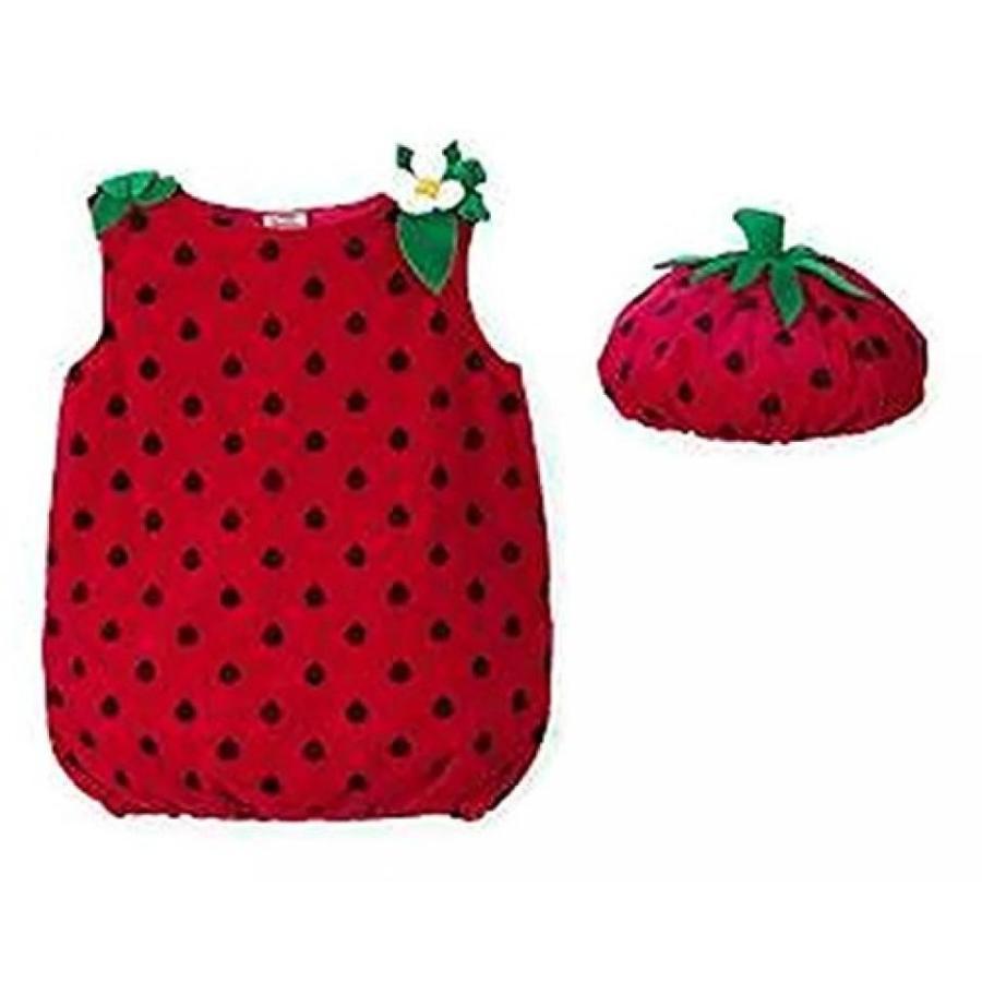 ハロウィン コスプレ 輸入品 Koala Kids Girls 2 Piece 赤 Strawberry Halloween Costume with Hat 9M-12M