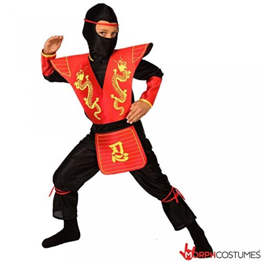 ハロウィン コスプレ 輸入品 Boys 赤 Dragon Ninja Costume Small