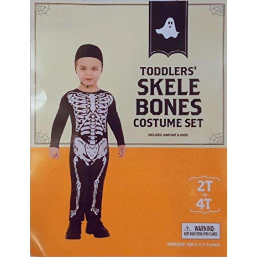 ハロウィン コスプレ 輸入品 Toddler's Skele Bones Costume Set size 2T - 4T