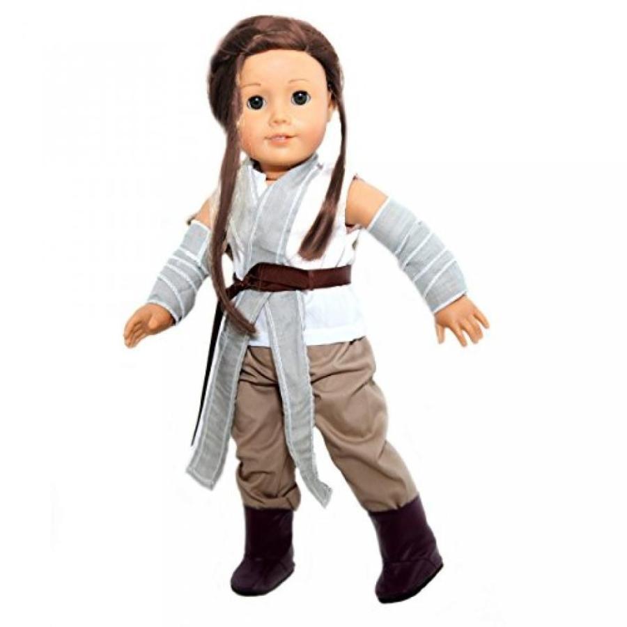 ハロウィン コスプレ 輸入品 Star Wars Inspi赤 Rey Costume Doll Set for American Girl Dolls