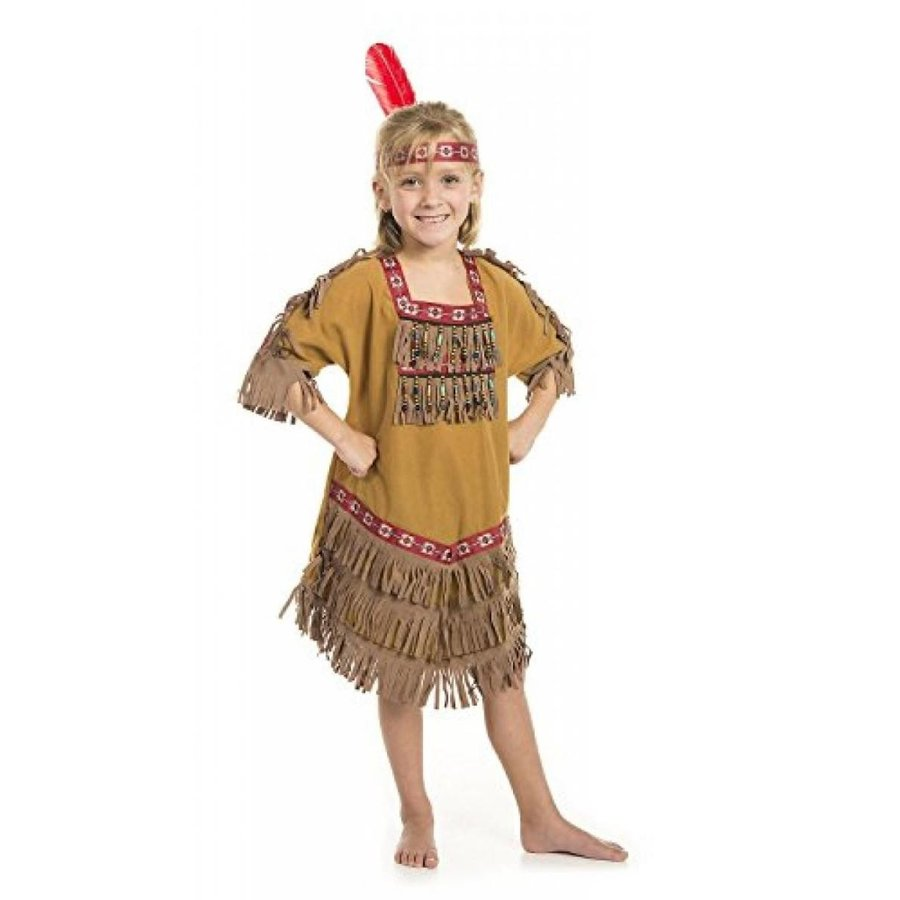 ハロウィン コスプレ 輸入品 American Indian Princess Girl Costume with Feather Headband