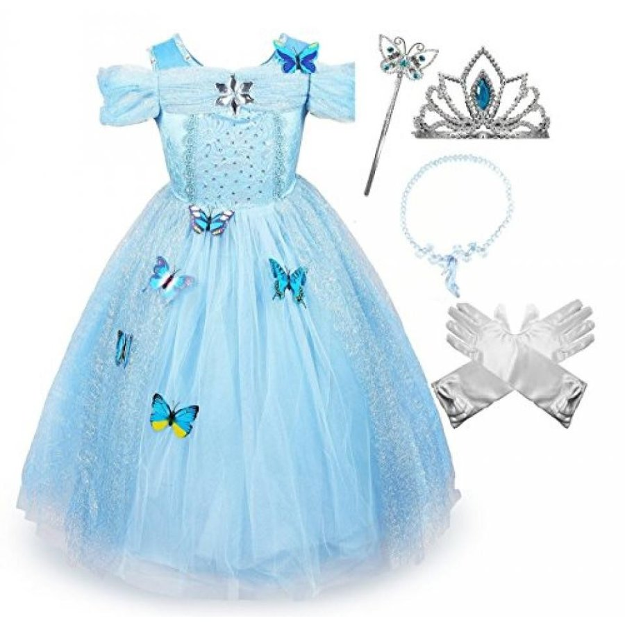 ハロウィン コスプレ 輸入品 Cinderella Crystal Princess Party Costume Dress with Accessories