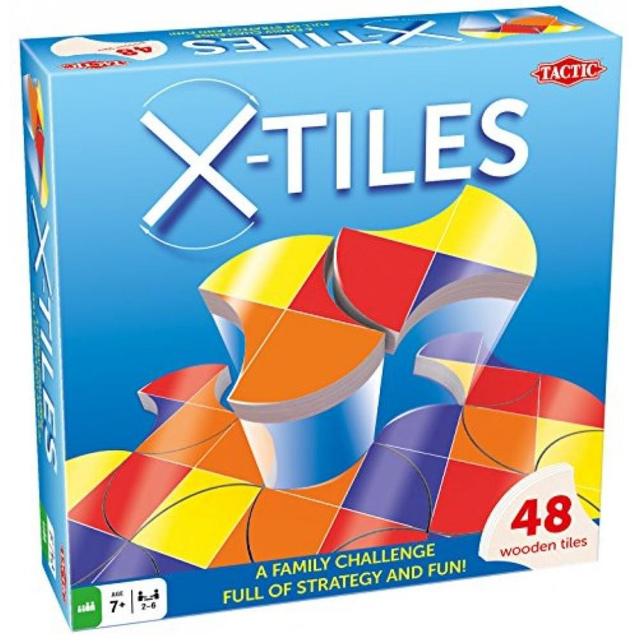 Tactic Games US X-Tiles Board Games (49 Piece), 青, 9.75