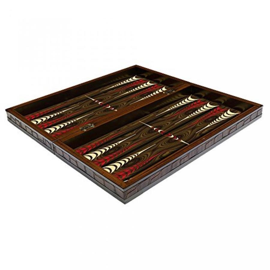 The 19'' VIP Walnut Turkish Backgammon Board Game Set 輸入品