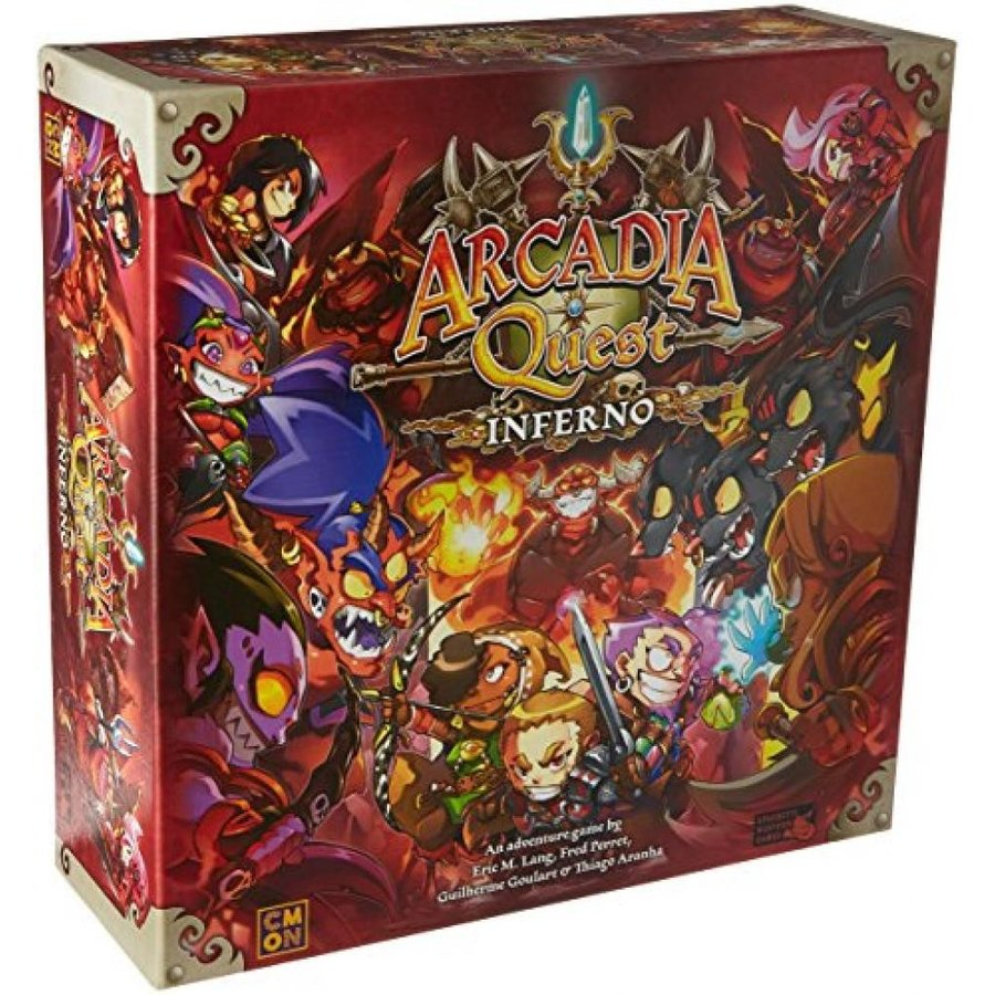 Cool Mini or Not Arcadia Quest Inferno Board Game 輸入品