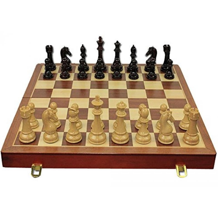 WGW Standard Wooden Chess Board Wood Chess Game Set High-end Chess 21
