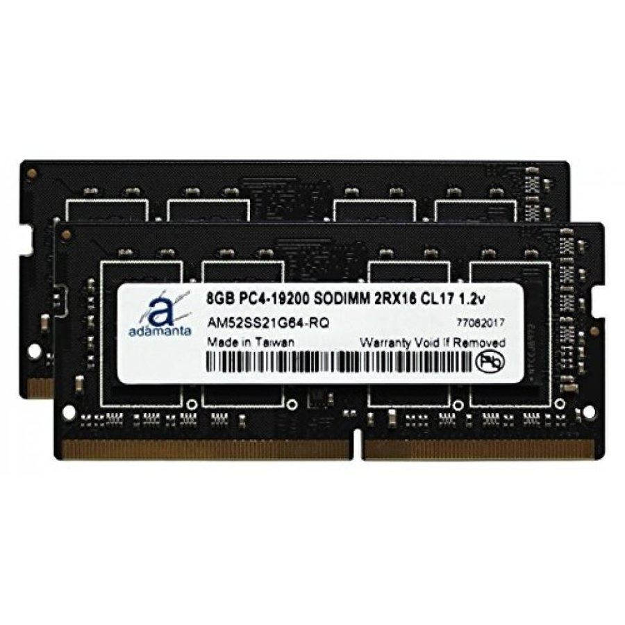 2x8GB Adamanta 16GB Laptop Memory Upgrade for Asus Republic of Gamers ROG Strix GL553VE DDR4 2400Mhz PC4-19200 SODIMM 2Rx16 CL17 1.2v RAM DRAM