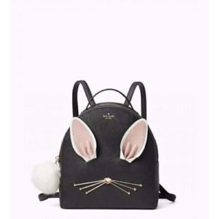 人気沸騰ブラドン ケイトスペード バッグ 輸入品 NWT バッグ Sammi Kate 輸入品 Spade Rabbit Sammi Hop To It Backpack Black Leather Bag Handbag $329, FIELD HILL:9eccd5d6 --- sonpurmela.online