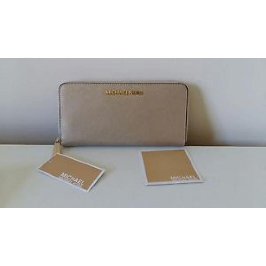 お気に入り マイケルコース Wallet.purse pale 財布 輸入品 NEW Michael Kors jet Zip set Zip round Continental Leather pale gold Wallet.purse, フロアマット工房 タスカル:4417d323 --- sonpurmela.online