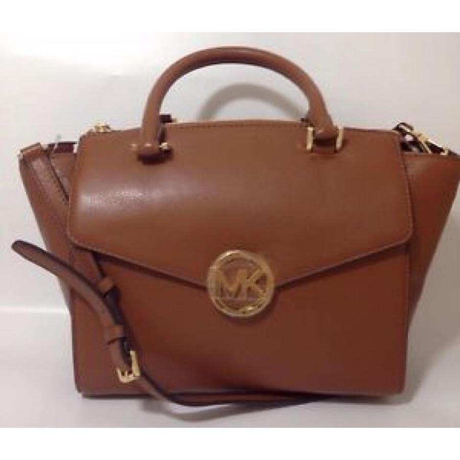 低価格 マイケルコース バッグ 輸入品 Michael Kors Hudson Tan Brown Leather Tote Satchel Bag Large Handbag, あんしんライフ 8742db5a