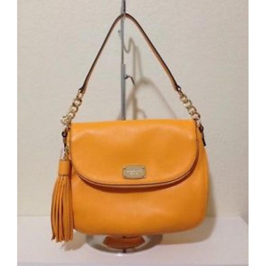 マイケルコース バッグ 輸入品 Michael Michael Kors Bedford Medium Leather Convertible Bag, Vintage 黄