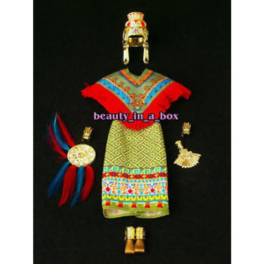 バービー おもちゃ Aztec Ancient Mexican Ensemble Fashion for Barbie Doll Q 輸入品
