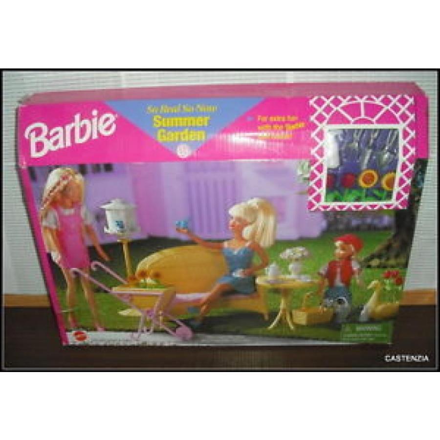 バービー おもちゃ NRFB VINTAGE 1998 MATTEL BARBIE DOLL SO REAL SO NOW SUMMER GARDEN PLAYSET 輸入品