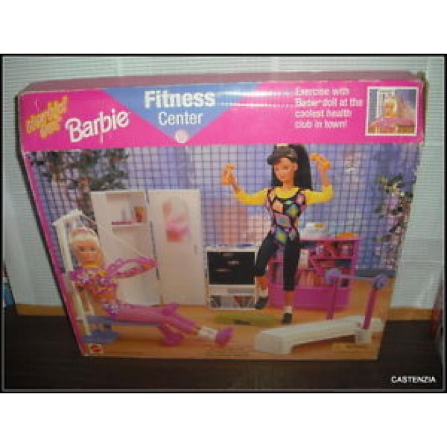 バービー おもちゃ NRFB VINTAGE 1997 MATTEL BARBIE DOLL FITNESS CENTER EXERCISE WITH BARBIE 輸入品