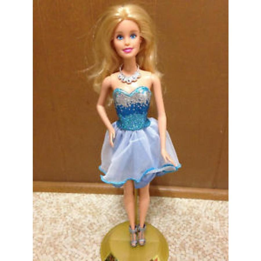 バービー おもちゃ Barbie Doll Fashionistas Clothes Sparkle Glitter 青 Cocktail Dress Shoe Outfit 輸入品