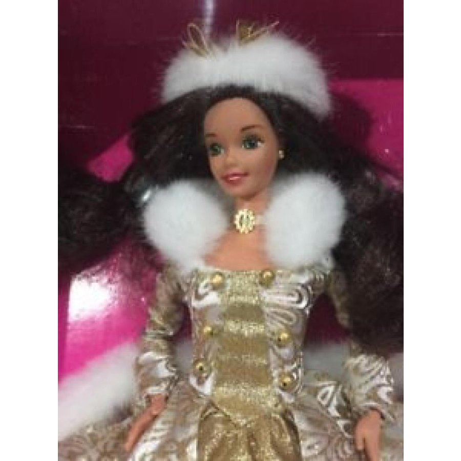 バービー おもちゃ Vintage 1995 Mattel Winter Fantasy Brunette Barbie Doll #15530 New Mint NRFB 輸入品
