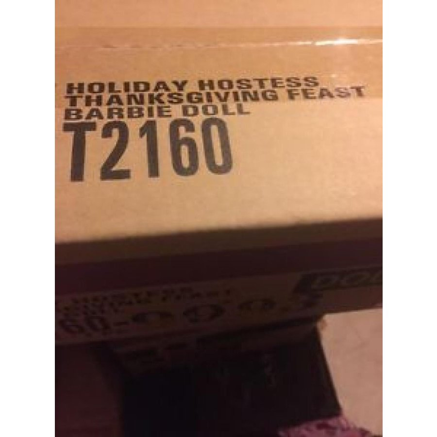 バービー おもちゃ BARBIE HOLIDAY HOSTESS THANKSGIVING FEAST DOLL NIB + ゴールド LABEL 輸入品