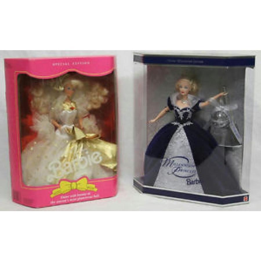 バービー おもちゃ 1999 MATTEL MILLENNIUM PRINCESS & 1991 MATTEL JEWEL JUBILEE BARBIE DOLLS NEW 輸入品