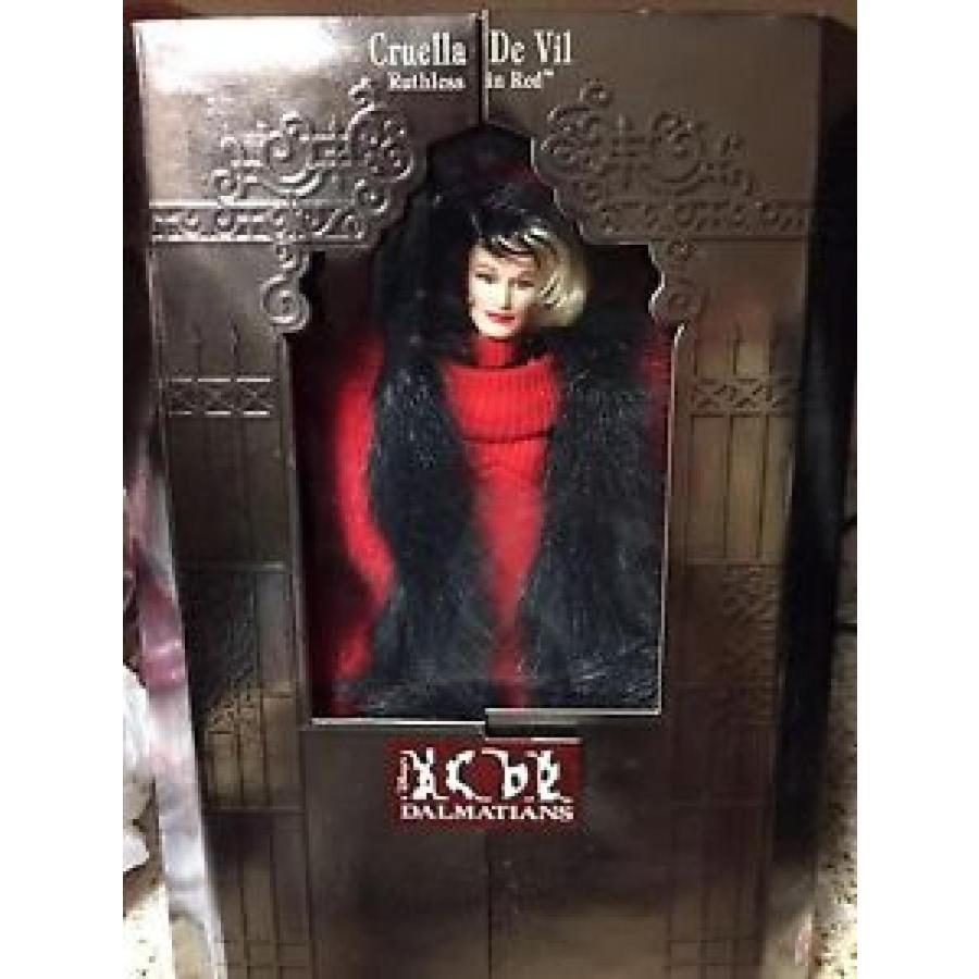 バービー おもちゃ Barbie CRUELLA DE VIL Great Villains collection Ruthless in 赤 Mattel 1997 NIB 輸入品