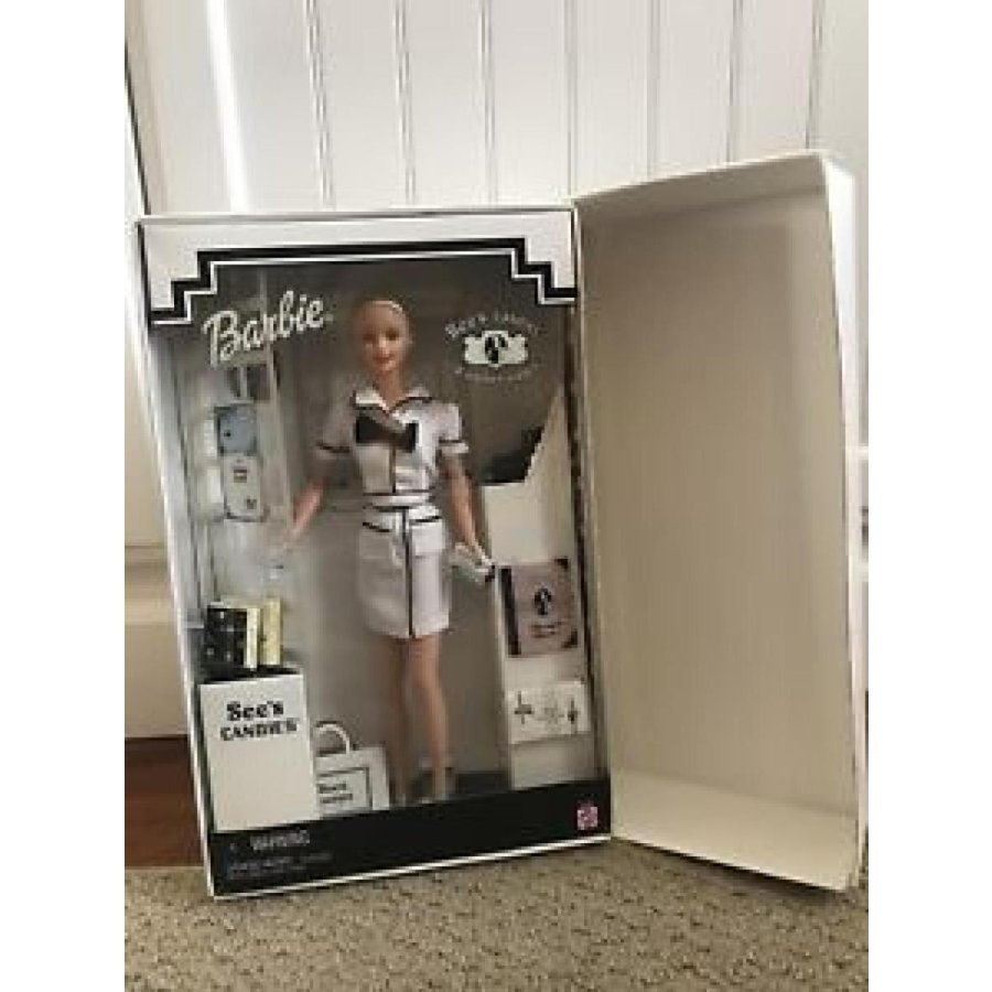 """バービー おもちゃ See's Candies """"A Happy Habit"""" First Job Salesperson Mattel Barbie Doll 輸入品"""