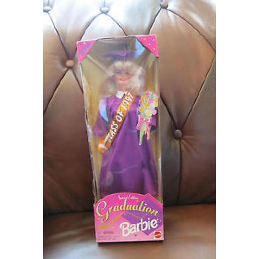 バービー おもちゃ Class of 1997 Barbie Graduation 紫の Cap Gown 12