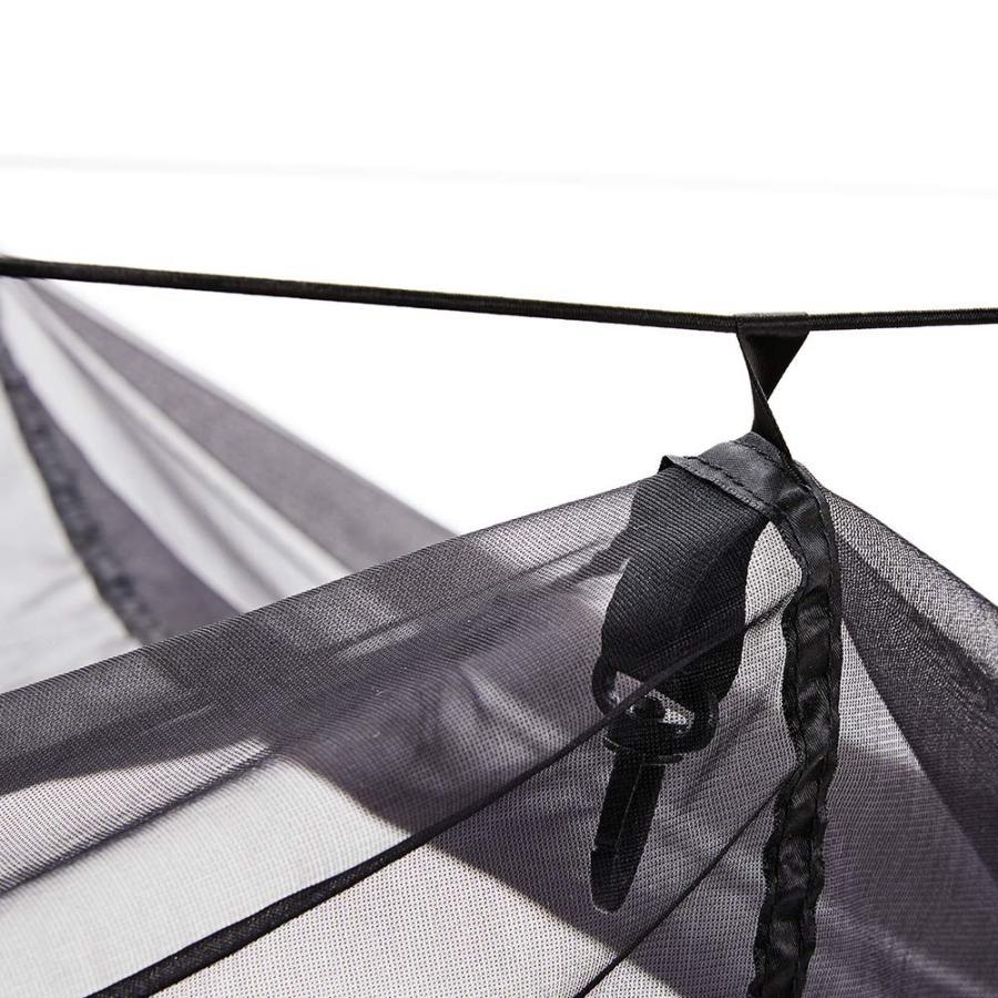 Easthills Outdoors (イーストヒルズ) ハンモック 蚊帳付き 軽量 幅広 2人用 パラシュート生地 タープ有り レッド