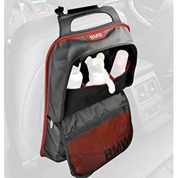 BMW純正アクセサリーBMW シートバッグ・ストレージポケット (ブラック/レッド)