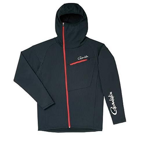 がまかつ(Gamakatsu) フーデッドジップシャツ ブラック M GM3566 ブラック M