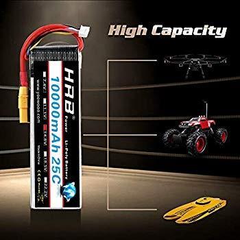 HRB RC Lipo Battery 14.8V 4S 10000mah 25C XT90 for Multi-Rotor DJI Tar