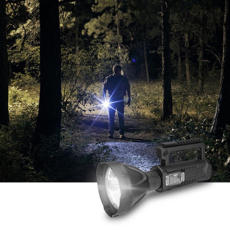 懐中電灯  LED USB充電式 超高輝度 4つ調光モード 三脚スタンド付き IP65防水 8000mAhバッテリー内蔵 モバイルバッテリー機能 LED懐中電灯 サーチライト|uuu-shop|11