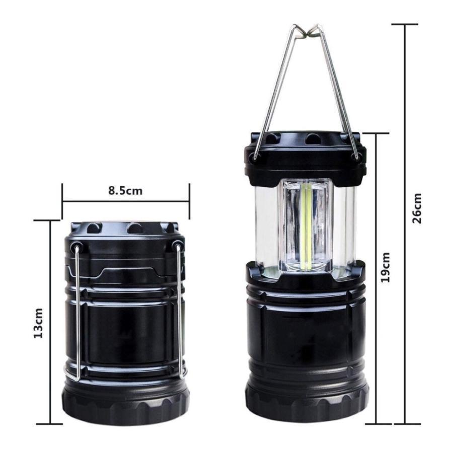 LEDランタン 超強力 COB型 明るい 携帯型 折り畳み式 ポータブル テントライト 防水 防災 電池式 登山 夜釣り ハイキング アウトドア キャンプ用 2個セット uuu-shop 11