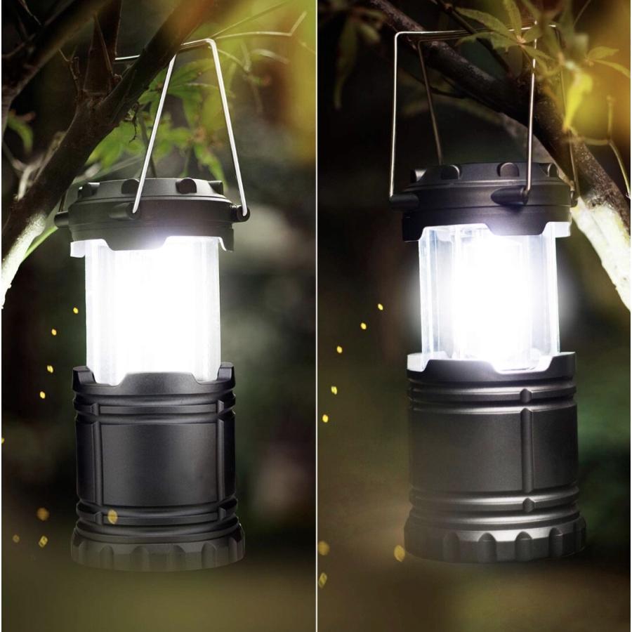 LEDランタン 超強力 COB型 明るい 携帯型 折り畳み式 ポータブル テントライト 防水 防災 電池式 登山 夜釣り ハイキング アウトドア キャンプ用 2個セット uuu-shop 13