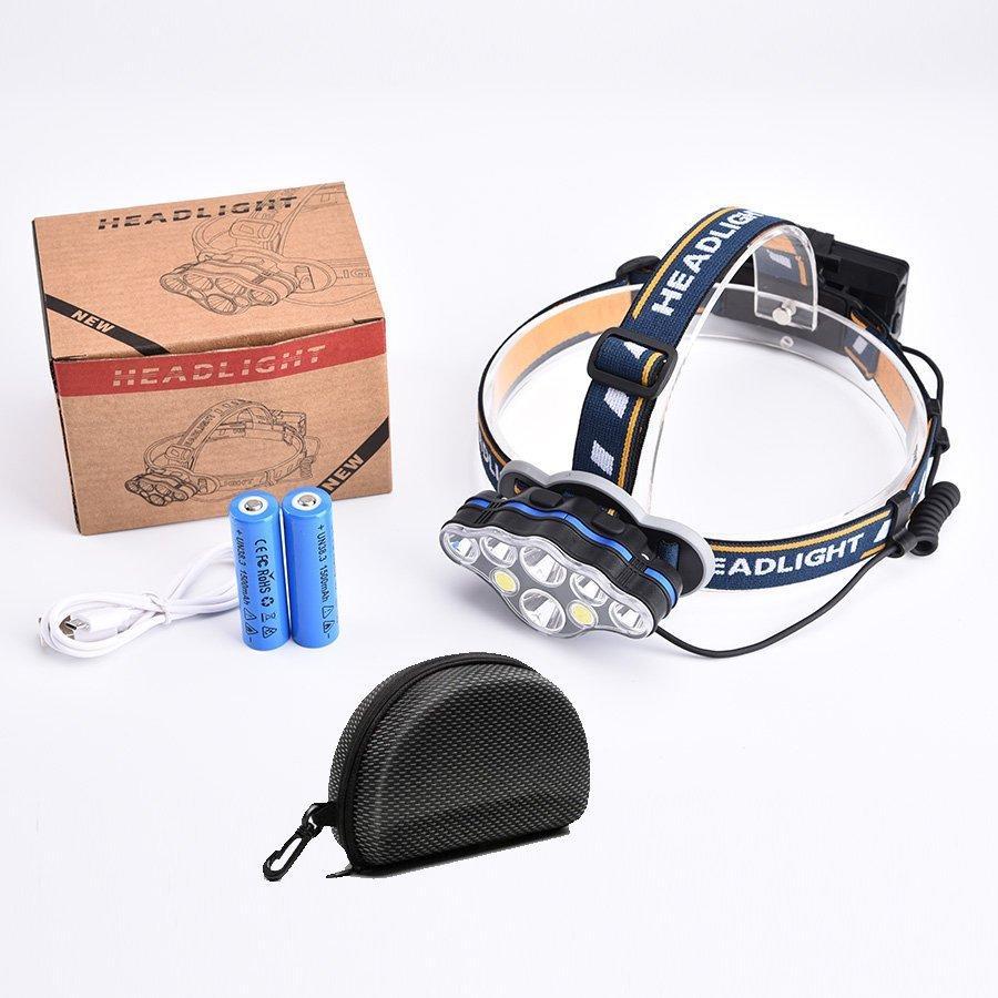 ヘッドライト led 充電式 ヘッドランプ - 軽量 防水 90度調節可能 高輝度 18650型バッテリー 夜釣り 停電時用 登山 アウトドア作業用|uuu-shop|11