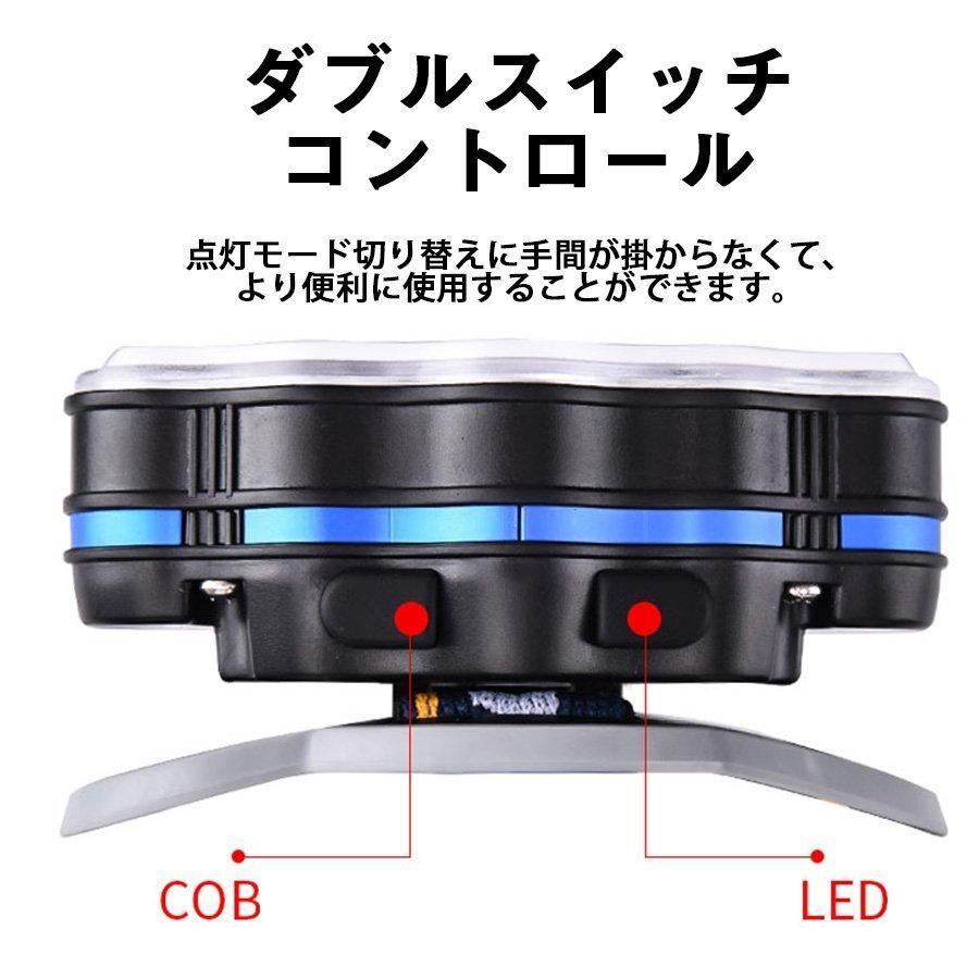 ヘッドライト led 充電式 ヘッドランプ - 軽量 防水 90度調節可能 高輝度 18650型バッテリー 夜釣り 停電時用 登山 アウトドア作業用|uuu-shop|07