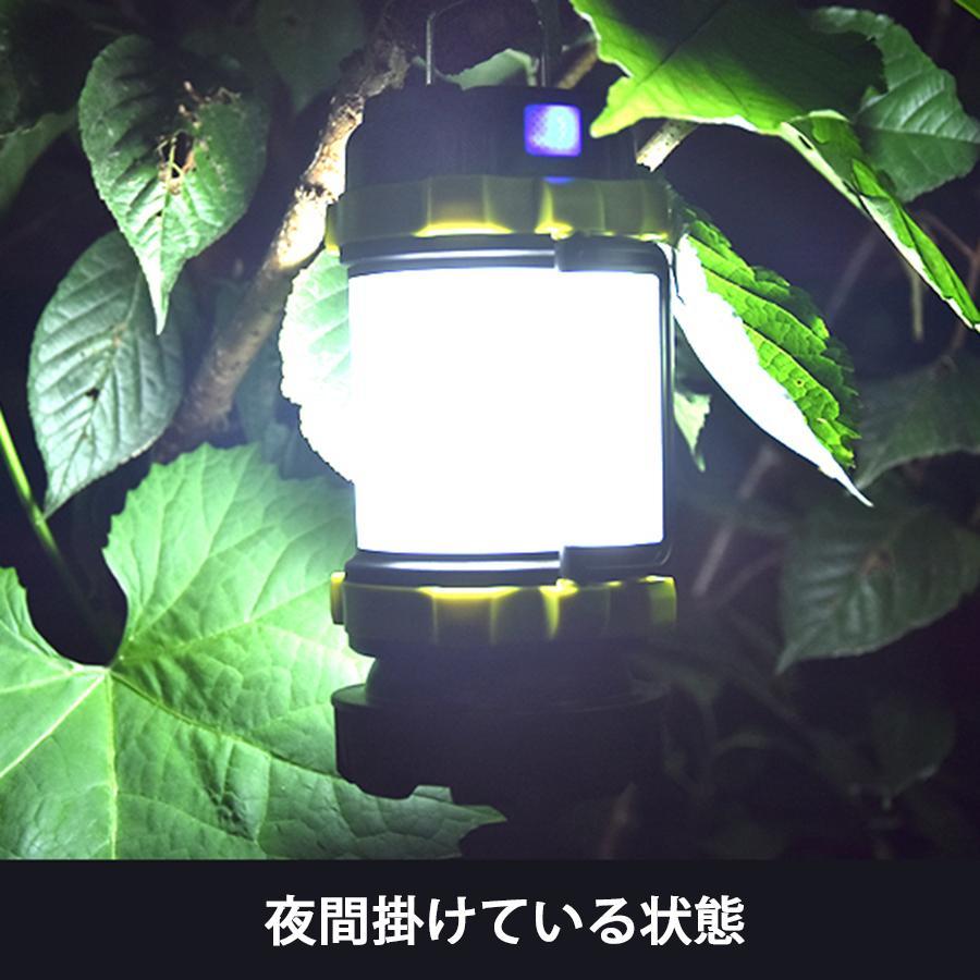LED ランタン 懐中電灯  高輝度チップ搭載 USB充電式  モバイルバッテリー機能 6つ点灯モード 無段階調光 防滴 キャンプ 登山 釣り 防災 停電 緊急 非常用|uuu-shop|13