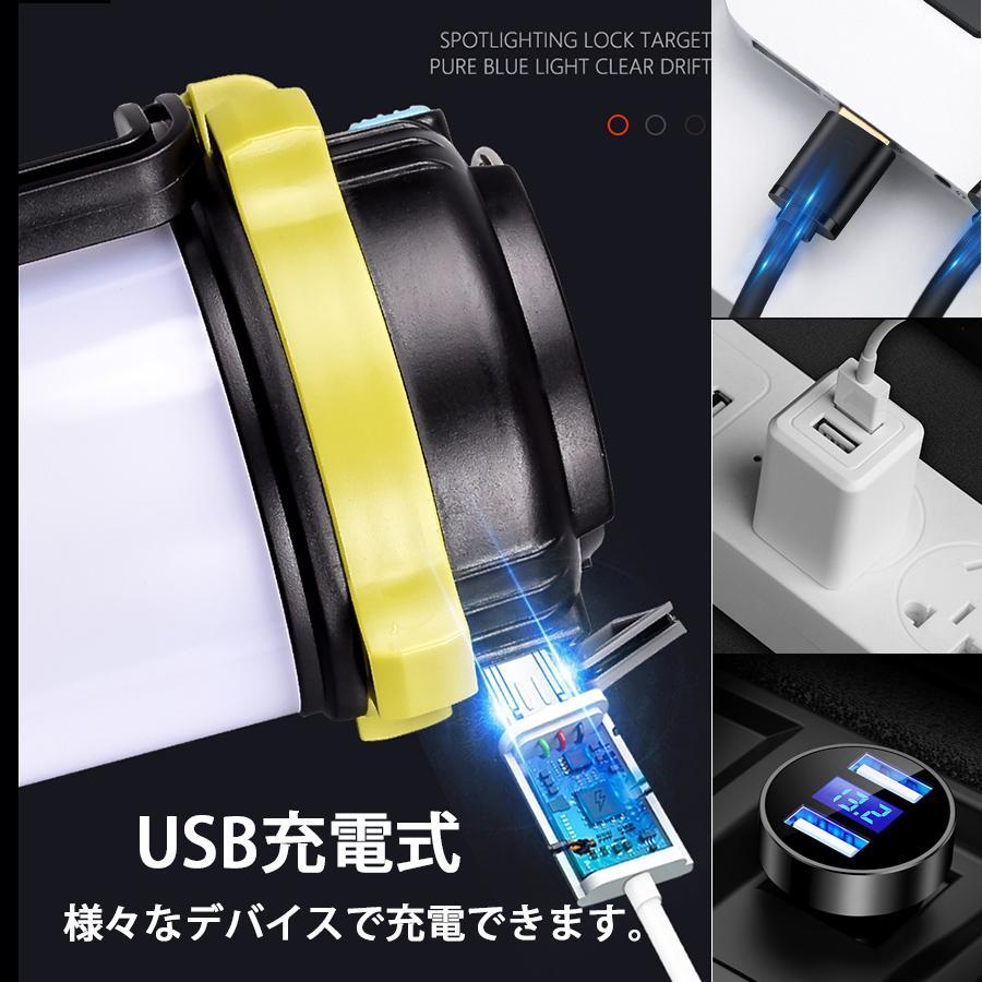 LED ランタン 懐中電灯  高輝度チップ搭載 USB充電式  モバイルバッテリー機能 6つ点灯モード 無段階調光 防滴 キャンプ 登山 釣り 防災 停電 緊急 非常用|uuu-shop|08