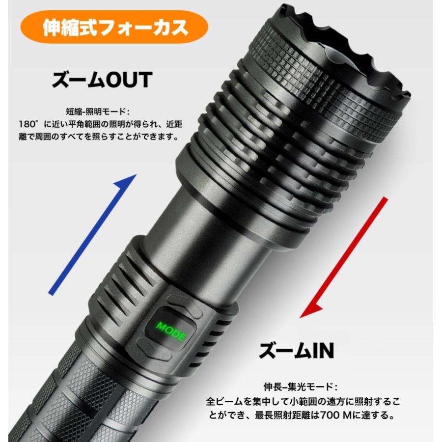 2020進化版 懐中電灯 ズーム式5モード 防災 地震 停電対策|uuu-shop|07